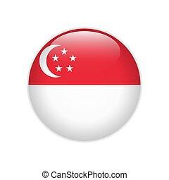 Singapore flag on button