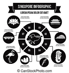 Singapore infographic concept, simple style
