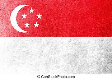 singapore lobogó, festett, képben látható, megkorbácsol, struktúra