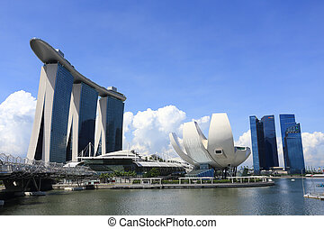The Marina Bay Sands Resort Hotel - SINGAPORE - May 10: The ...