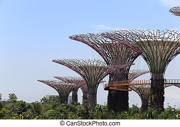 view of The Supertrees Grove at Gardens by the Bay - ...