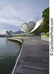 SINGAPORE - MAY 12: Art Science Museum on May 12, 2014 in...