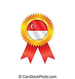Singapore medal flag