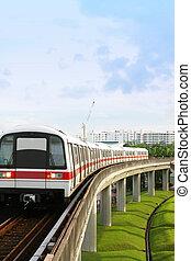 Singapore MRT - Singapore Mass Rapid Transit MRT Train...