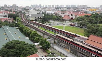 Singapore MRT Subway in Eunos 1080p - Singapore Mass Rapid...