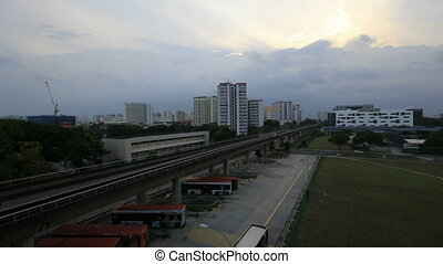 Singapore MRT Trains Timelapse