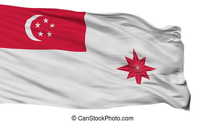 Singapore Naval Ensign Flag Isolated Seamless Loop - Naval ...
