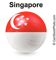 singapore official state flag