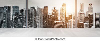 Singapore panoramic desk