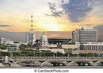 Singapore Parliament Building and Supreme Law Court