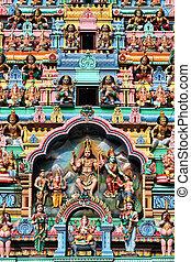 Singapore - Sri Veeramakaliamman Temple in Singapore. Hindu...