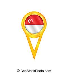 Singapore pin flag