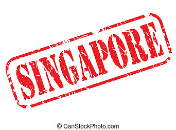 Singapore red stamp text on white