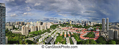 Singapore Skyline from Tiong Bahru