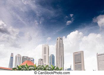 Singapore skyline on a beautiful summer day