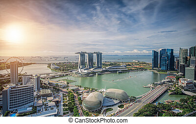 Singapore Skyline. Singapore`s business district
