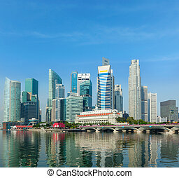 Singapore skyscrapers - Singapore business district ...