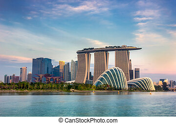 Singapore - Landscape of the Singapore financial district