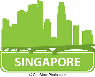singapore, sylwetka na tle nieba