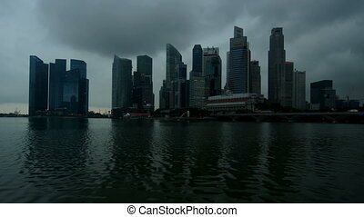 Singapore - time-lapse, cloudy