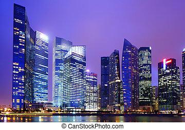 singapore, w nocy