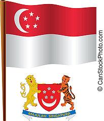 singapore wavy flag