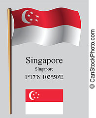 singapore wavy flag and coordinates