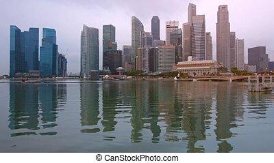 "Singapore's Modern Skyline Towers over the Bay - ""Beautiful,..."