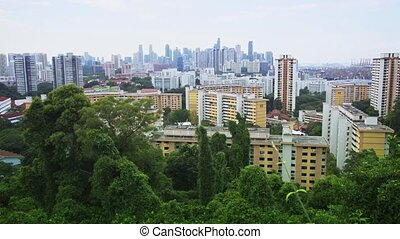 Singapore's Urban Skyline from Telok Blangah Hill Park,...