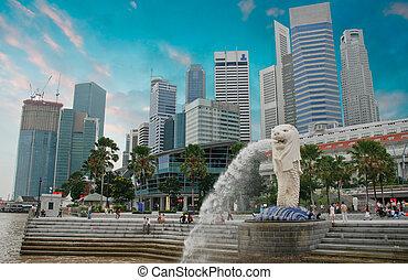 singapour, architecture, gratte-ciel