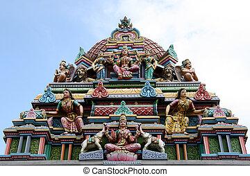 singapour, hindou, sri, -, srinivasa, temple, temple