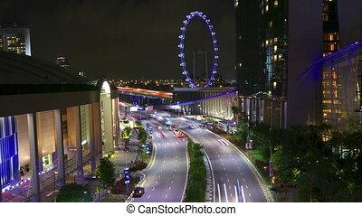 singapour, nuit