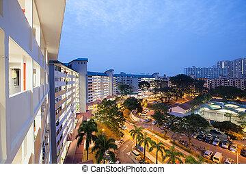 singapur, caja, queenstown, propiedad, más viejo