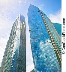 singapur, empresa / negocio, financiero, rascacielos, edificios