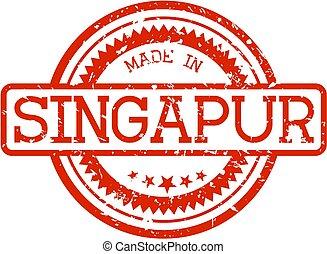 singapur..., frimærke, lavede, gummi