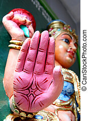 singapur, hindú, sri, -, srinivasa, dios, templo