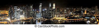 singapur, por la noche