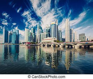 singapur, rascacielos