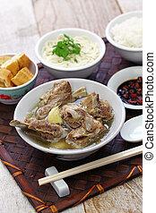 singare bak kut teh, spicy pork rib soup