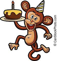 singe, fête, anniversaire, déguisement, utilisation