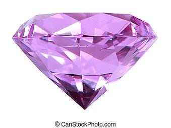 singe, puple, cristal, diamant