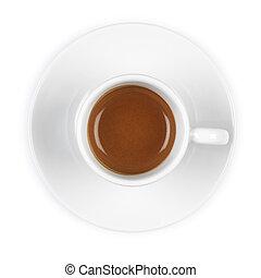 espresso - Singel espresso in white cup from above