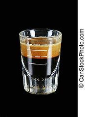 singel, espresso, skott