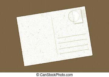 singel, vykort