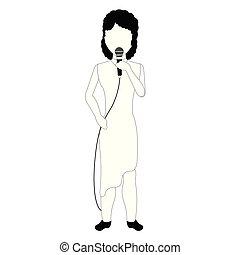 singende, avatar, weibliche