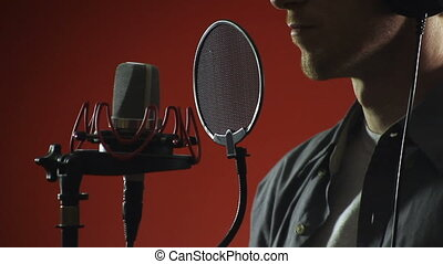 Singer and Microphone