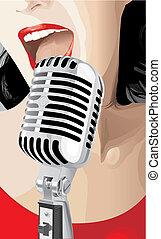 Singer (vector)