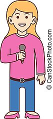 Singer doodle cartoon