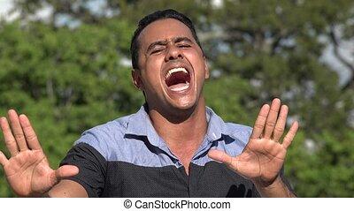Singing Adult Hispanic Man