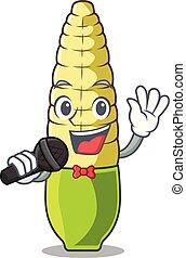 Singing baby corn cartoon in the fridge